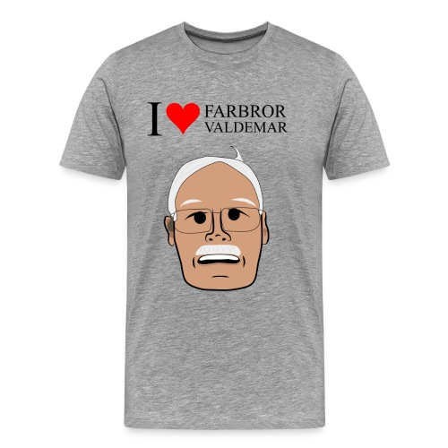 I love Farbror Valdemar - Premium-T-shirt herr