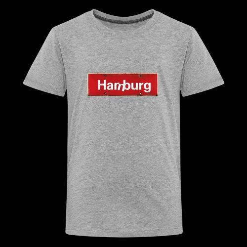 Männer T-Shirt: Hamburg oder Harburg? Beides! - Teenager Premium T-Shirt