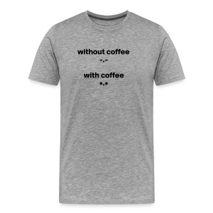 Cococaro // w and w/o coffee - Men's Premium T-Shirt
