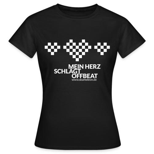 Mein Herz schlägt Offbeat - Frau - Frauen T-Shirt