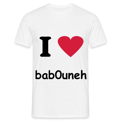 I Love bab0uneh* - T-shirt Homme