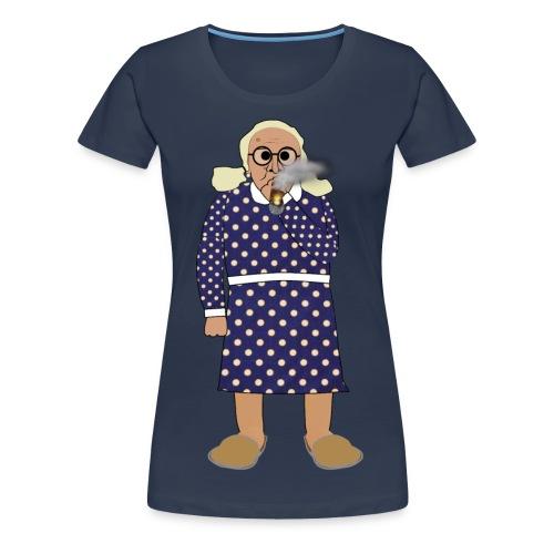 Kerstin röker - Premium-T-shirt dam