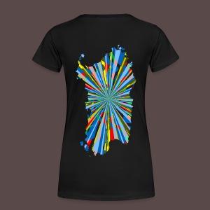 Sardegna, Esplosione colori (retro) - Maglietta Premium da donna