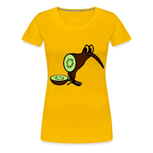 Damska koszulka kiwi. - Koszulka damska Premium