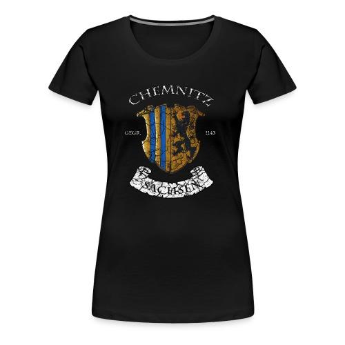 Chemnitz Wappen - Vintage Look - Frauen Premium T-Shirt