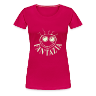 T-Shirts ~ Women's Premium T-Shirt ~ Fantazia Smiley Face t-shirt glow in the dark print