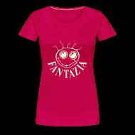 T-Shirts ~ Women's Premium T-Shirt ~ Fantazia Smiley Face t-shirt glow in the dark print