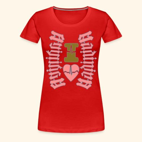 I LOVE MARTINIQUE MADININA - T-shirt Premium Femme