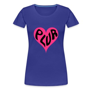 PLUR Rave t-shirt - Peace Love Unity Respect within a heart - Women's Premium T-Shirt