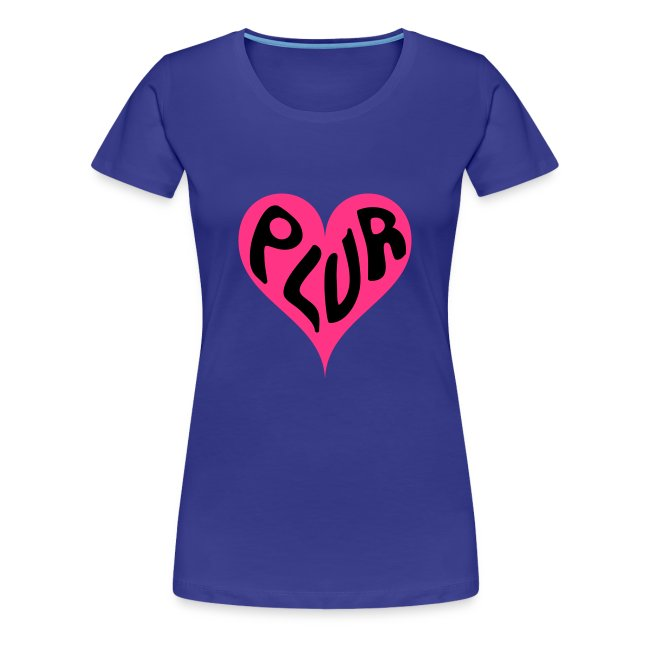 PLUR Rave t-shirt - Peace Love Unity Respect within a heart
