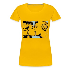 Kissing Headphone girls - Women's Premium T-Shirt