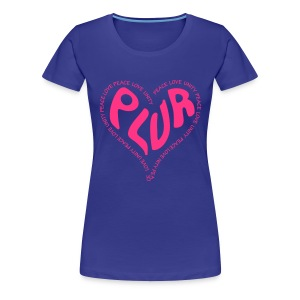 PLUR Rave t-shirt - Peace Love Unity Respect - Women's Premium T-Shirt