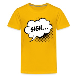 Comic balloon Sigh - Teenage Premium T-Shirt
