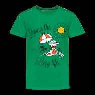 Shirts ~ Kids' Premium T-Shirt ~ Living the lazy life