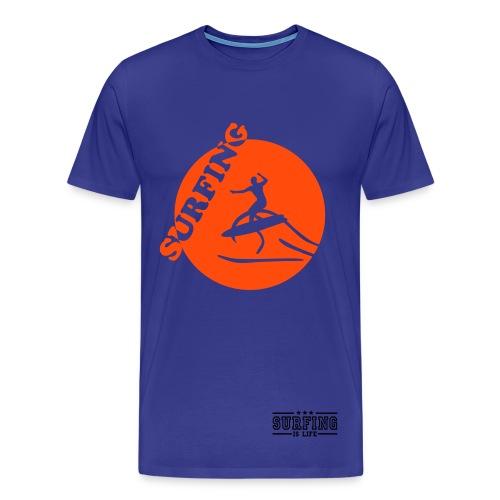 Surfing - Herre premium T-shirt