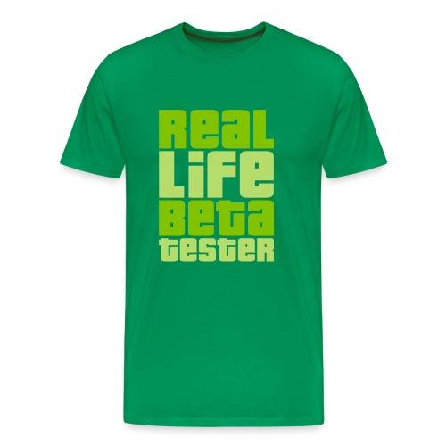 Real Life Beta Tester (Lime) - Männer Premium T-Shirt