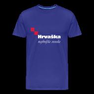 T-Shirts ~ Men's Premium T-Shirt ~ Croatia — The best neighbor (blue)