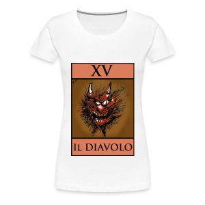 Tarot T Shirt - The Devil XV - Women's Premium T-Shirt