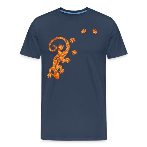 Running Gecko Fire   Männer Shirt Übergröße - Männer Premium T-Shirt
