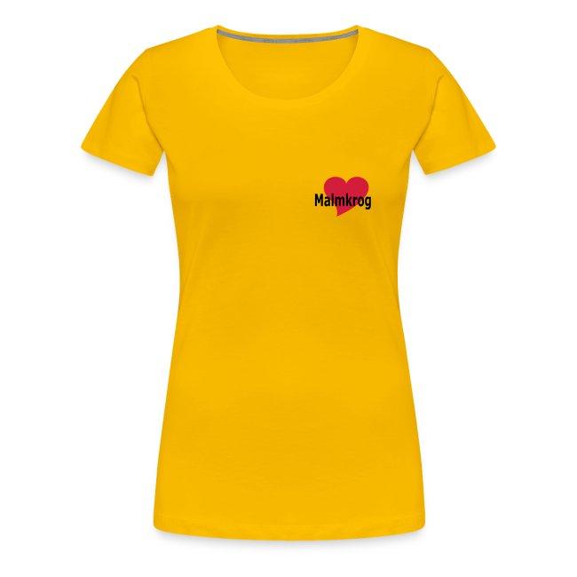 """Damen-Shirt """"Ein Herz für Malmkrog"""""""