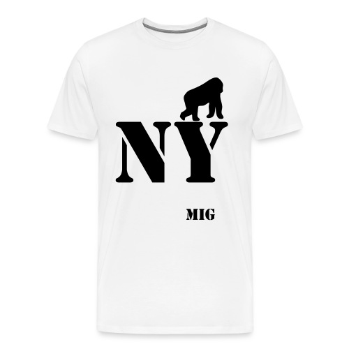 MIG NEW YORK WHITE - T-shirt Premium Homme