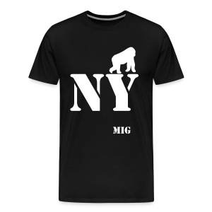 MIG NEW YORK BLACK - T-shirt Premium Homme