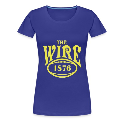 Wire - Blue T - Ladies - Women's Premium T-Shirt