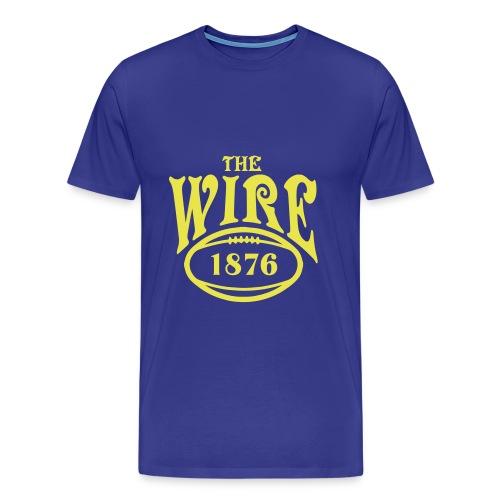 Wire - Blue T - Men's Premium T-Shirt