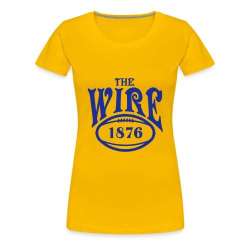 Wire - Yellow T - Ladies - Women's Premium T-Shirt