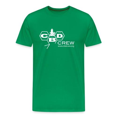 CBD Crew Men's OneColor Logo T-Shirt - Men's Premium T-Shirt