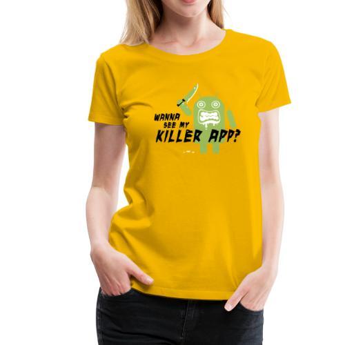 Killer App Android T-shirts - Women's Premium T-Shirt