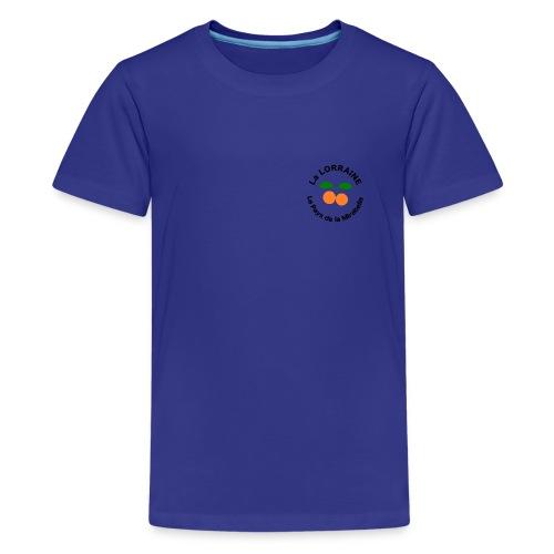 T-shirt Ado - Lorraine Pays de la Mirabelle - T-shirt Premium Ado