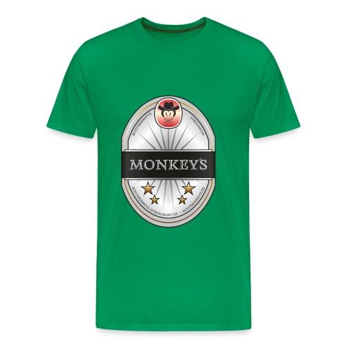 Monkey´s Beer Shirt  - Männer Premium T-Shirt