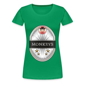Monkey´s Beer Shirt Girlie - Frauen Premium T-Shirt