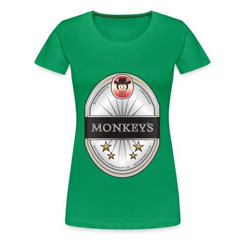Monkey´s Beer Shirt Girlie - Frauen Premium T-Shirt