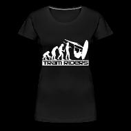 Tee shirts ~ Tee shirt Premium Femme ~ Evolution Noir Blanc Femme