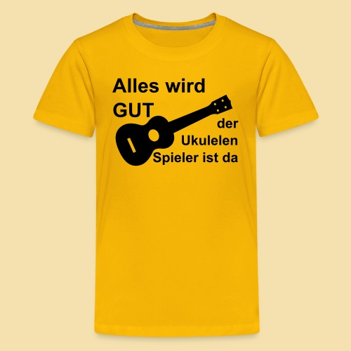Kidshirt: alles wird gut (Motiv: schwarz) - Teenager Premium T-Shirt