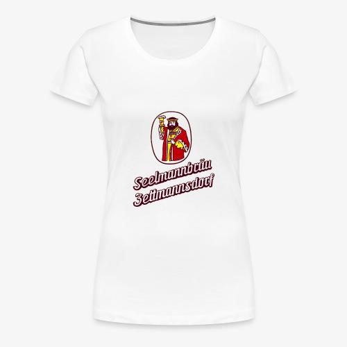 Damen T-Shirt mit Retro Logo - Frauen Premium T-Shirt