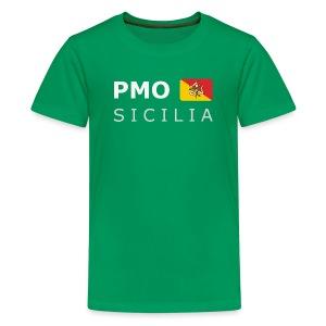 Teenager T-Shirt PMO SICILIA white-lettered - Teenage Premium T-Shirt