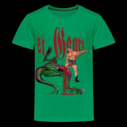 T-Shirt:St. Georg besiegt den Drachen - Teenager Premium T-Shirt