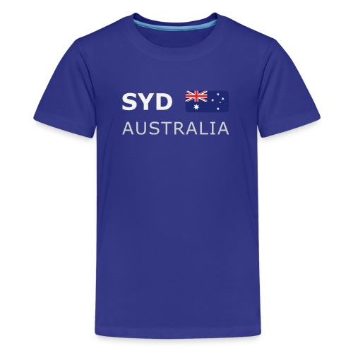 Teenager T-Shirt  SYD AUSTRALIA white-lettered - Teenage Premium T-Shirt