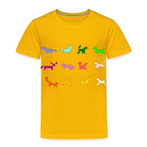 bunte tangram hunde - Kids' Premium T-Shirt