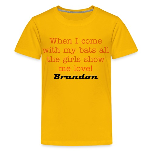HDTVofficialify Brandon Teens T-shirt - Teenage Premium T-Shirt
