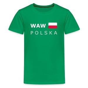 Teenager T-Shirt WAW POLSKA white-lettered - Teenage Premium T-Shirt