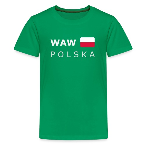 Teenager T-Shirt WAW POLSKA white-lettered - Teenage Premium T-Shirt