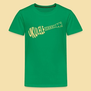 Teenagershirt: UKULELE ukulele (Motiv: beige) - Teenager Premium T-Shirt