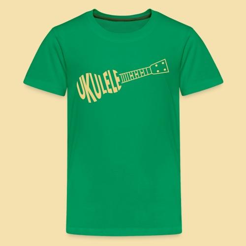 Teenagershirt: UKULELE ukulele (Motiv: beige) - Teenager Premium T-Shirt
