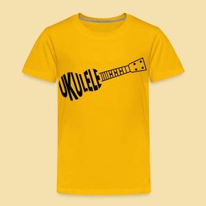 Kidshirt: UKUELE Ukulele (Motiv: schwarz) - Kinder Premium T-Shirt