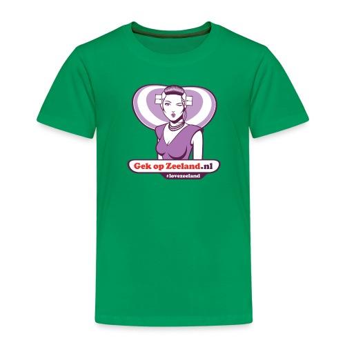 Speciael vo trotse huus van verschillende leeftijden #lovezeeland - Kinderen Premium T-shirt