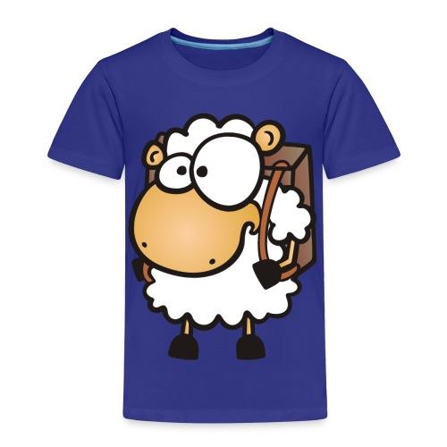 Schul Schaf mit Ranzen - Kinder Premium T-Shirt